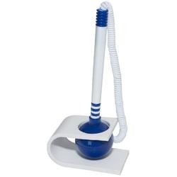 Pix cu suport autoadeziv si snur, vertical, Office Products - corp alb/albastru - scriere albastra