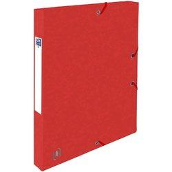 Mapa A4, carton MultiStrat 390g/mp, cu elastic, 25mm latime, OXFORD Top File - rosu