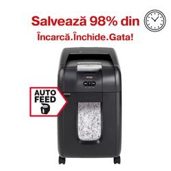Distrugator Automat documente REXEL Auto+ 200X, 200 coli, P4, cross-cut (confeti)
