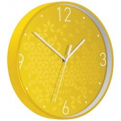 Ceas pentru perete Leitz WOW, silentios, rotund, 29 cm, galben
