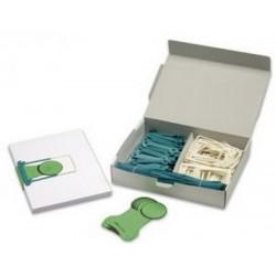 Alonja arhivare de mare capacitate, pentru transfer, eticheta, 100/cutie, JALEMA Clipex - gri petrol
