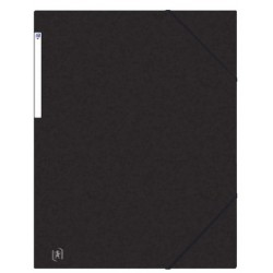 Mapa A3, carton MultiStrat 390g/mp, cu elastic pe colturi, OXFORD Top File - negru