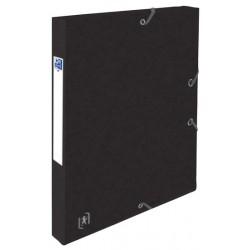 Mapa A4, carton MultiStrat 390g/mp, cu elastic, 25mm latime, OXFORD Top File - negru