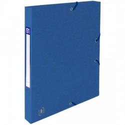 Mapa A4, carton MultiStrat 390g/mp, cu elastic, 25mm latime, OXFORD Top File - albastru