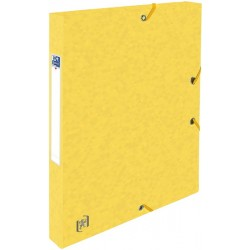Mapa A4, carton MultiStrat 390g/mp, cu elastic, 25mm latime, OXFORD Top File - galben