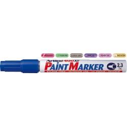 Marker cu vopsea ARTLINE 400XF, corp metalic, varf rotund 2.3mm - albastru