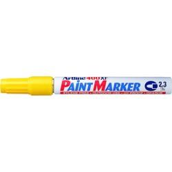 Marker cu vopsea ARTLINE 400XF, corp metalic, varf rotund 2.3mm - galben