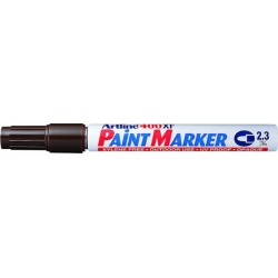 Marker cu vopsea ARTLINE 400XF, corp metalic, varf rotund 2.3mm - maro