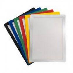 Buzunar magnetic pentru documente A4, cu rama color, 2 buc/set, JALEMA - rama rosie