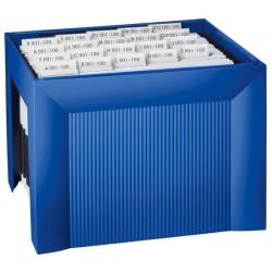 Suport plastic pentru 35 dosare suspendabile, HAN Karat - albastru