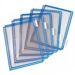 Buzunare prezentare pentru display, A4, (10 buc/set), rama metalica, TARIFOLD - albastru